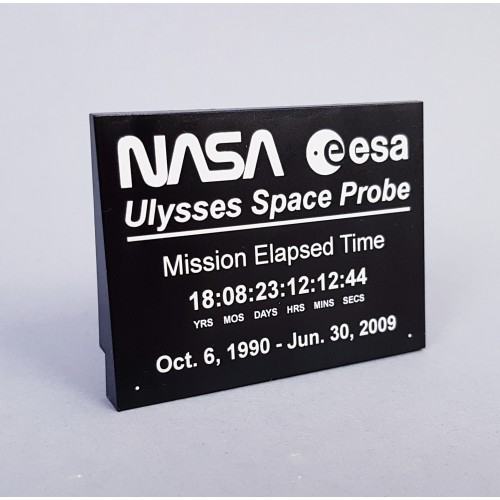 Ulysses Space Probe Information Plaque