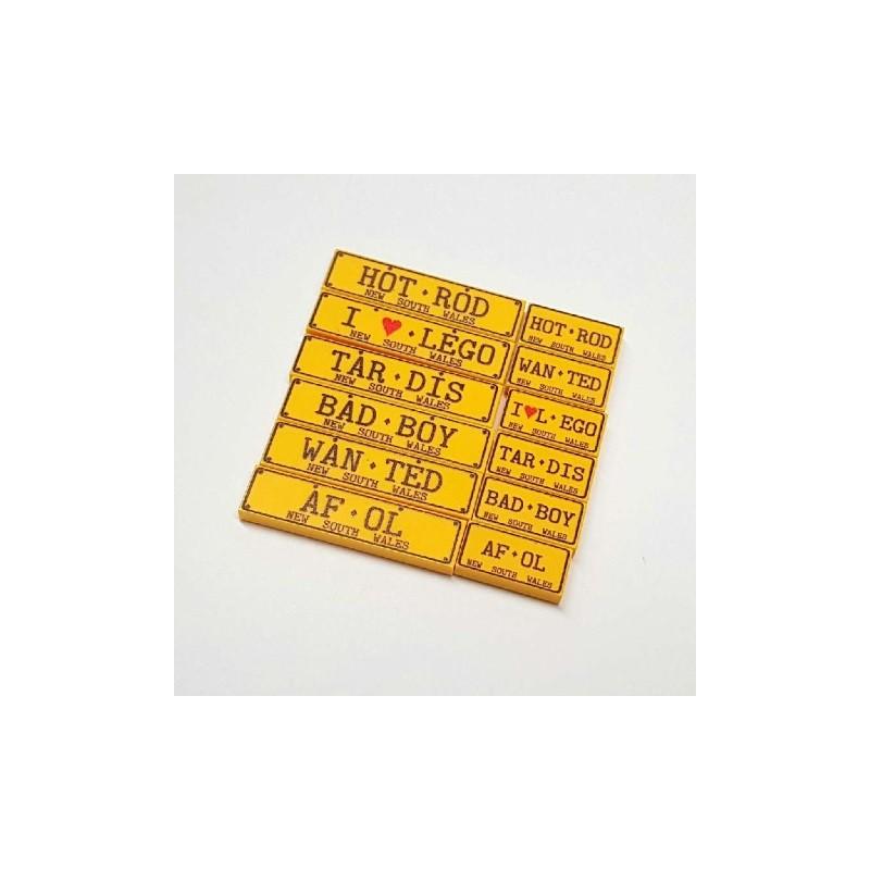 Custom NSW Licence plate 1x2 tile