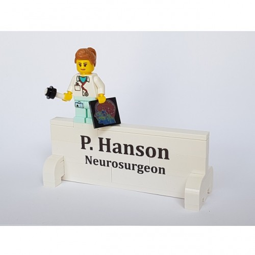 Desk Nameplate with Minifigure